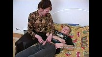 Horny mother with a impressive ass seduced by son in bedroom thumbnail