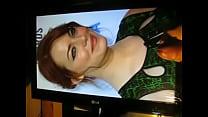 My huge cum tribute on Emma Stone 3