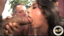 Black bull stretches open white brides pussy preview image