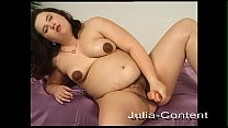 Pregnant Alina, solo and lesbian sex