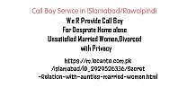 Call boy service Islamabad rawalpindi