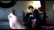 Foot fetish kink on web camera