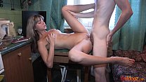 18videoz - Teeny Gina Gerson fucked on a dinner table