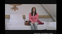 Casting - Milky pert teen takes a thick one preview image