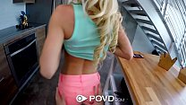 POVD Petite blonde Kenzie Reeves big dick fuck and facial preview image