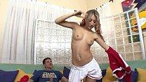 Big hard cock fills up sexy little teen Natalia Rossi schoolgirl Natalia Rossi after blowjob
