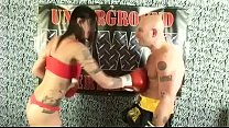 TATTED NATIVE AMERICAM BOMBSHELL BABE VS MAN IN INTERGENDER MATCH SEXY FIGHTING ! UIWP ENTERTAINMENT