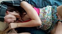 Mexicana amateur Sophie petite chiquita mamando y follando con los ojos vendados