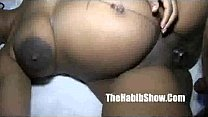 Black Pregnant pussy eating cream filled pussy fucked 2