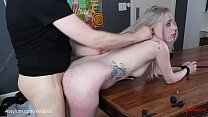 Beautiful bubble-butt blond gets brutally painal fucked with ass to mouth over the dining table (Violet October) pornhub video