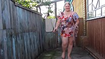 Russian mother of pissing in the nylon pantyhose
