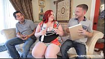 Sexy BBW Ellza Allure Gets DP'ed by 2 Huge Cocks