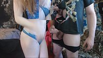 Roxy and Lee Camming blow job and fuck, blue lipstick صورة