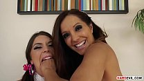 Extra sloppy cock suckers Francesca Le and Oliv...