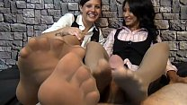 After school footjob from teach her Jasmine Shy and student Sadie Holmes pornhub video