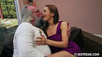 Old man bangs Dominica Fox's tight young pussy video