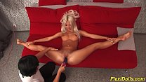 real flexi doll stretched and toyed