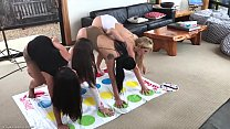 Hot Lesbain  Milf Plays Naked Twister with 3  t...
