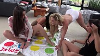 Hot Lesbain  Milf Plays Naked Twister with 3  teens Image