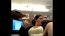 Chubby MILF Cums on the Phone at Work - WildCam...