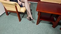 Cams4free.net - Walking Floor of the Hotel in Stockings