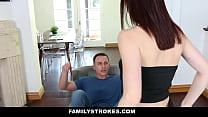 FamilyStrokes - Cute Step-Sis Seduces Bro With Lapdance thumbnail