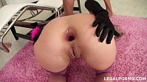 3 on 1 first DAP and 3 swallow. Kathe Gross gets 2 cocks in the ass for the first time GIO26 video