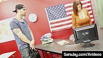 Milf Teacher Sara Jay Gets Bathed In Cum By For
