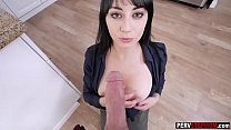 Busty business MILF stepmom sucked a stepsons b...