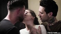 Gia Paige forced into sex with two bros and gags and is dped thumbnail