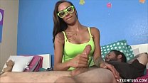 Sasha Foxxx Superb Handjob For Homeless Guy's Thumb