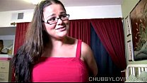 Cute chubby honey enjoys a hard fucking and cum all over her nice big tits pornhub video
