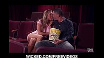 HOT blonde Samantha Saint meets her old BF at the movie theater's Thumb