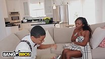Bagbros - Young Ebony Babe Noemie Bilas Gets Caught Masturbating By Her Pervert Step Brother Lil D