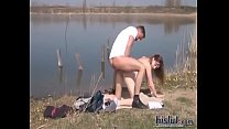 (Name???)This couple fucked by the pond