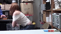 Redhead getting her BBW cute and perfect ASS smashed in OFFICE