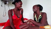 Gorgeous African Lesbo Couple Have Oiled Up Pus...