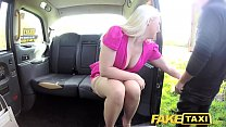 9142 Fake Taxi Hot tv personality takes it hard in London cab preview