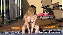9161 Sexy neighbor caught fingering pussy preview
