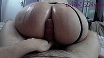 Assjob With The Huge Oiled Ass Of My Step Siste