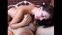 Sexy MILF Sandy enjoys a sticky facial cumshot image