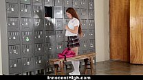 InnocentHigh - Slutty Cheerleader Squirts All O...