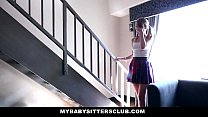 MyBabySitters - Cute Young Babysitter Fucks Dad video