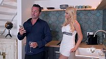 Threesome Fantasies Gorgeous Blonde Gets Stuffe...