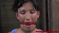 Gagged sub getting nipples punished Preview