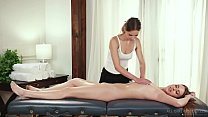 Jillian Janson makes Jill Kassidy wet on massage table Preview