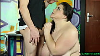 Dominant SSBBW gets banged on the floor