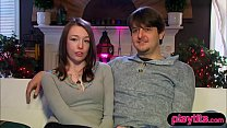 Young couple goes to a swinger party for the fi...