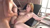 Huge tits chubby babe anal fucked
