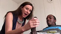 Lara Latex Quenches Her Hunger For Black Cock's Thumb